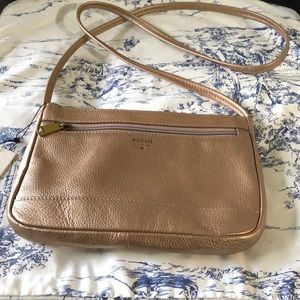 NWT Fossil pale rose mini crossbody